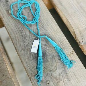 Kendra Scott Phara Lariat Necklace in Aqua